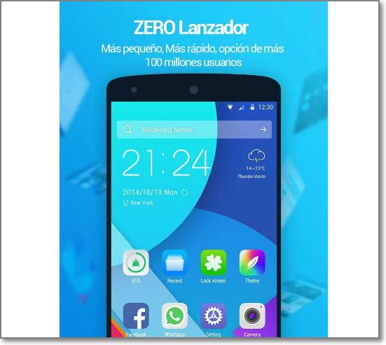 zero launcher android imagen