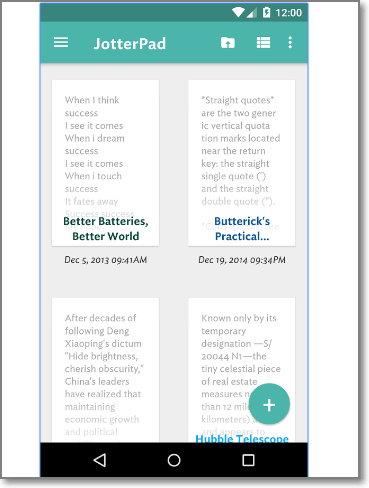 interfaz de JotterPad Writer
