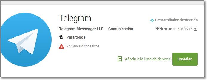Descargar telegram gratis para Android – info novedad