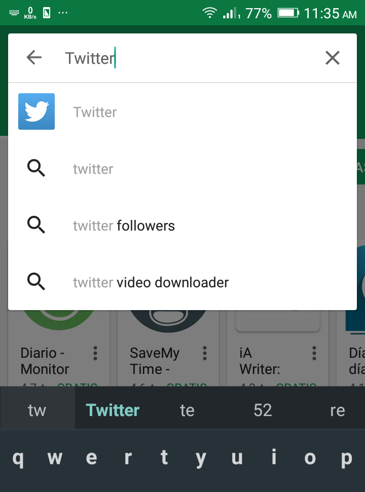 Descargar twitter samsung