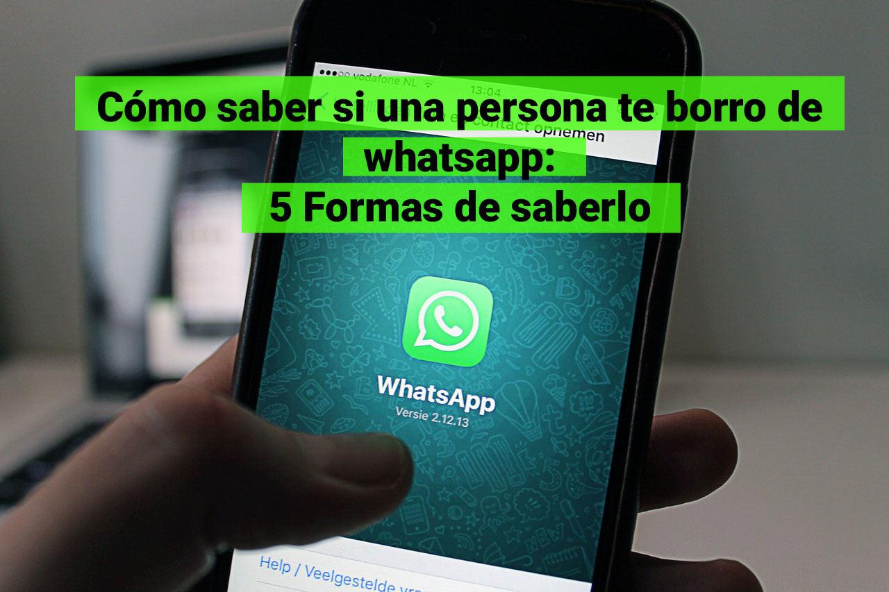 Saber si me borro de whatsapp
