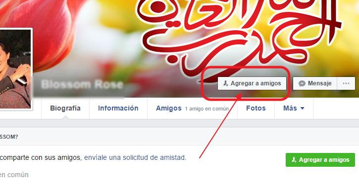 agregar amistades a facebook