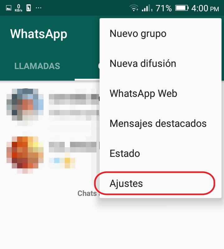 cambiar foto de perfil whatsapp paso 2