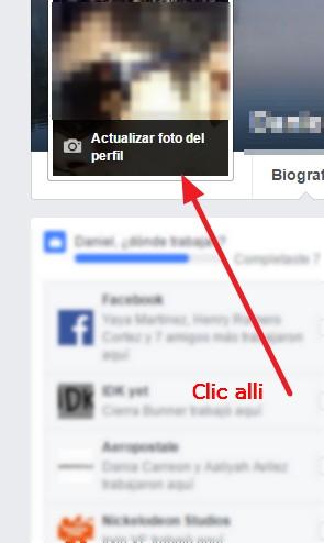 cambiar nuestra imagen de perfil facebook