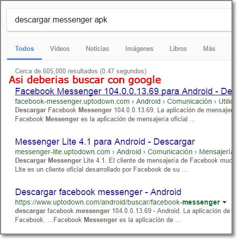 descargar messenger apk