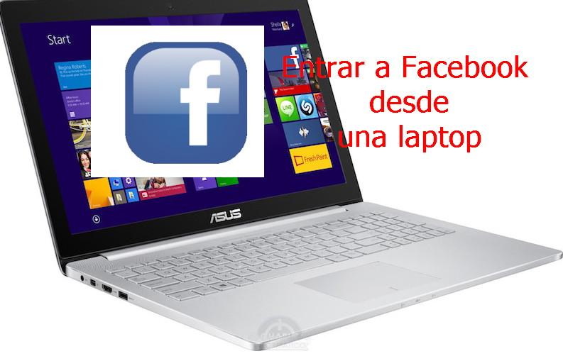 entrar a facebook desde una laptop