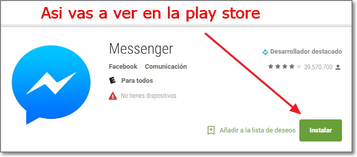 messenger play store