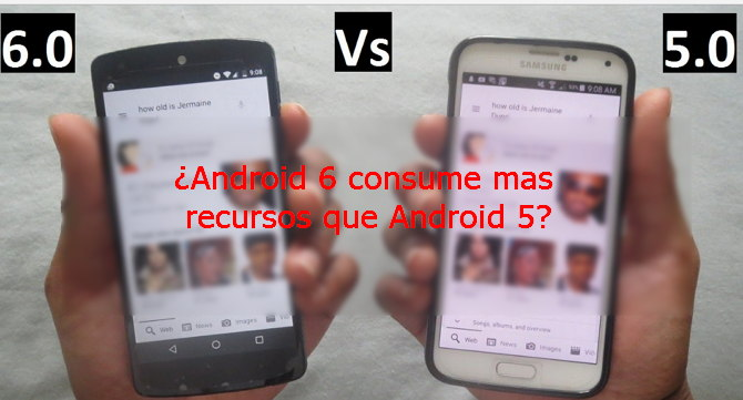 Android 6 vs 5 en recursos