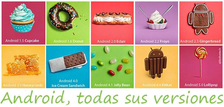Todas las versiones de android