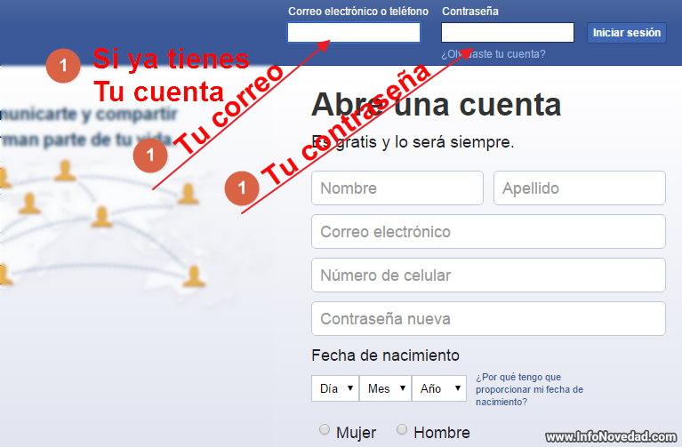 abrir facebook desde pc
