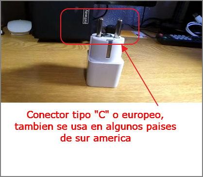 conector de corriente europeo