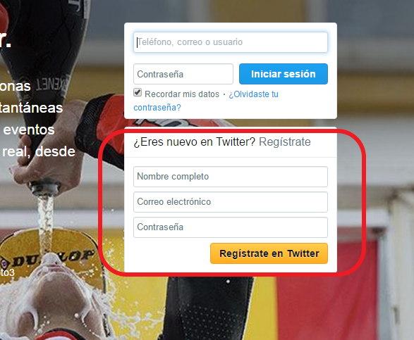 crear cuenta de twitter