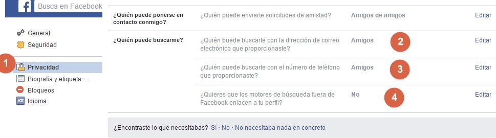 facebook que nadie me cuentre