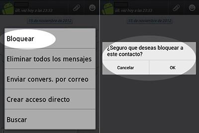 Cómo bloquear un contacto en WhatsApp