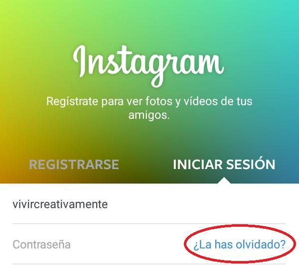 Cómo recuperar la contraseña de Instagram 2