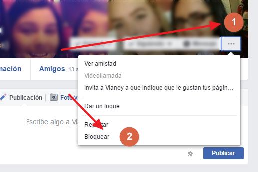 bloquear personas facebook
