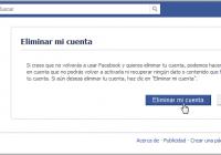 Como eliminar tu cuenta de Facebook