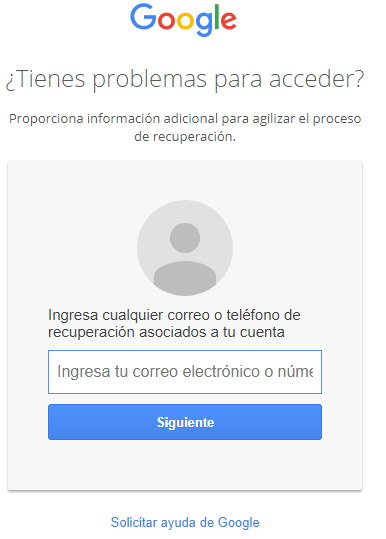 problemas para acceder a gmail