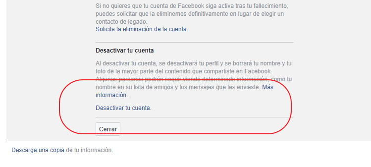 cerrar facebook del todo