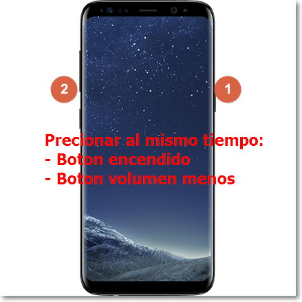captura de pantalla en android