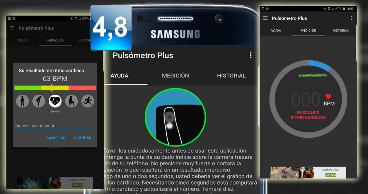 Aplicaciones que miden el ritmo cardiaco para Android