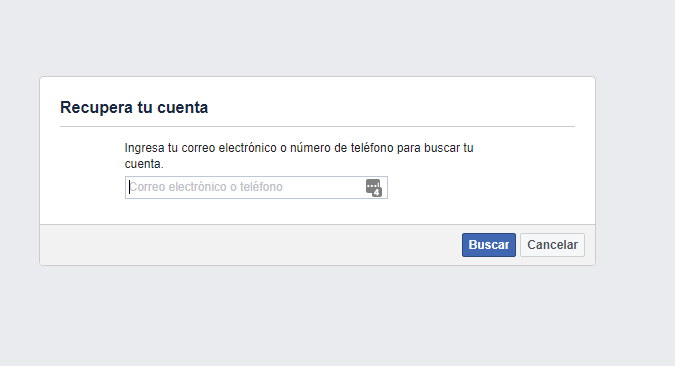 asi se recupera contraseña de facebook paso 2