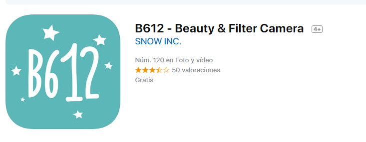 descargar b612 para iphone