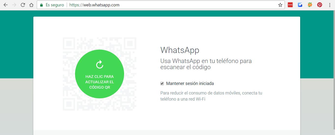 iniciar sesión en Whatsapp