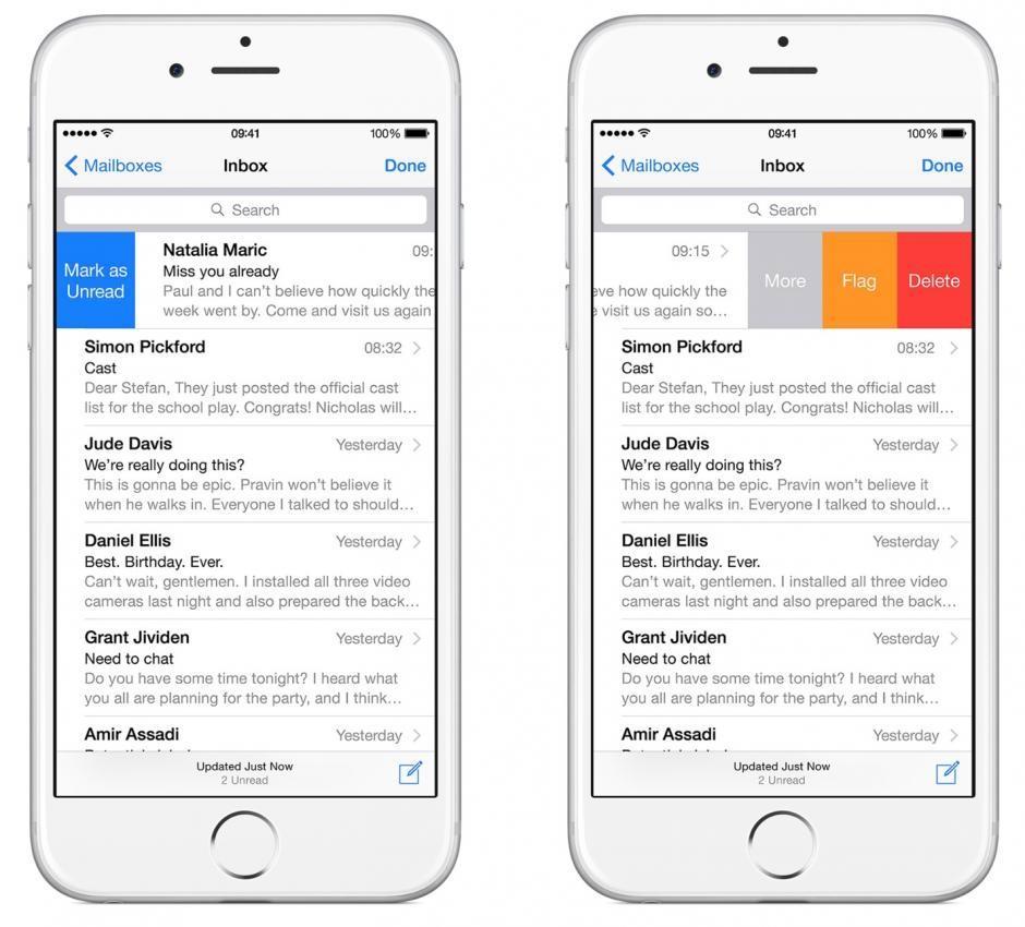 Imagen Outlook para iPhone